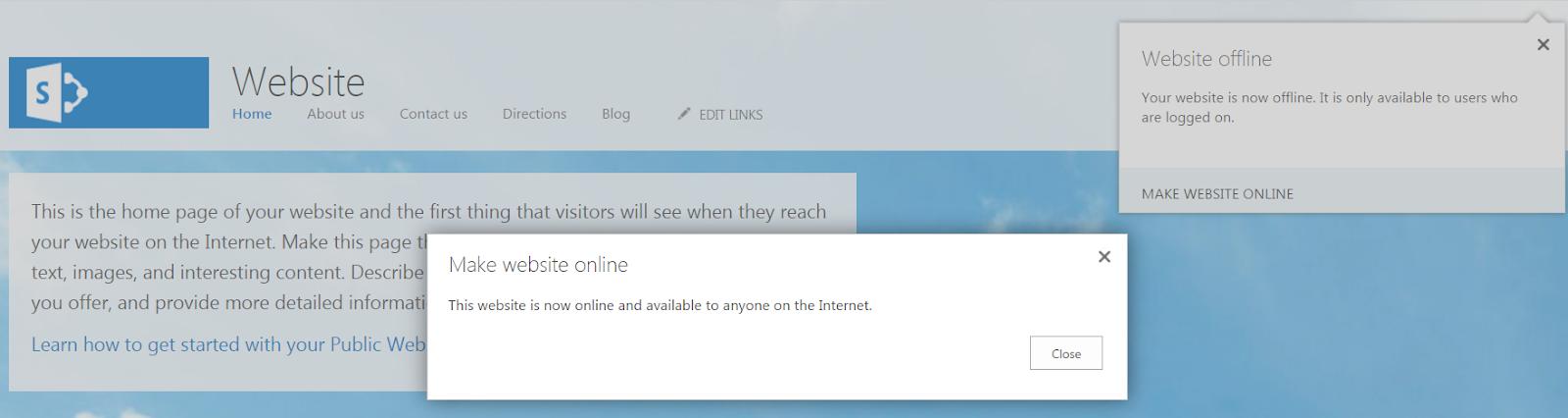 Make Public Website Online
