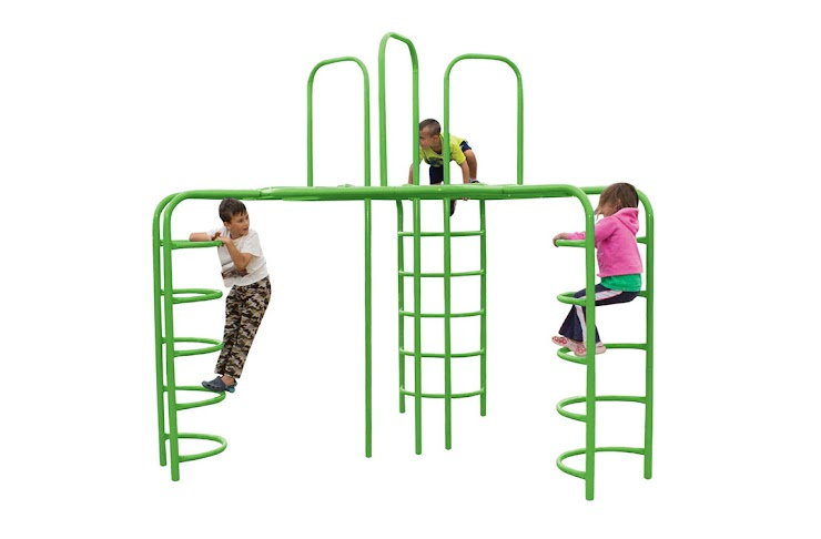 This piece of equipment provides variable play for 1-12 children aged, 5-12. The major advantage to this piece of equipment is that it provides upper-body strength and hand-eye coordination. The major disadvantages are that many children don't have the strength to use the monkey bar feature, and the variation in play is much lower than the above pieces of equipment.   The full installation price is $6,806.22.