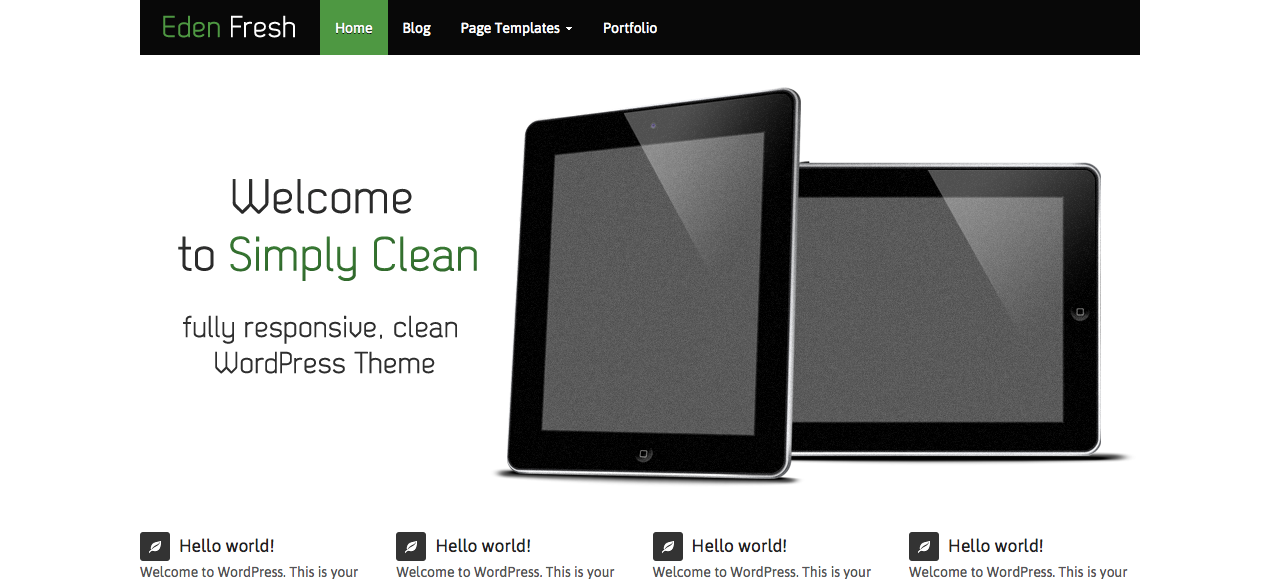 Eden Fresh WordPress Theme