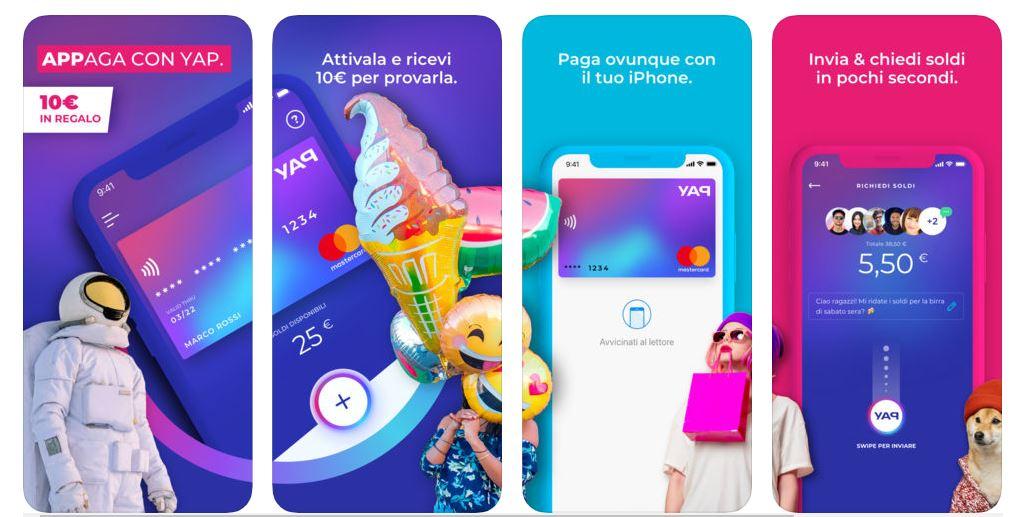"""YAP Regala 10€ ai nuovi utenti, e occhio alla promo """"Invita un amico"""""""