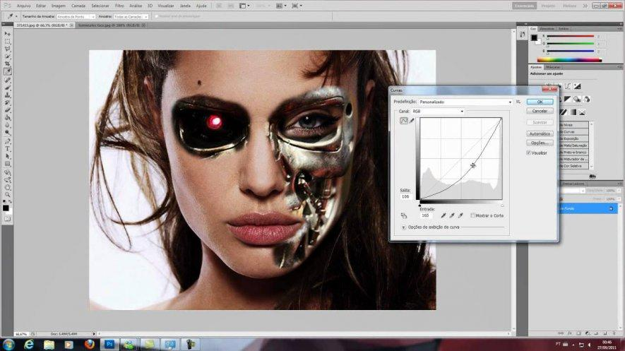 Adobe Photoshop software for flyers