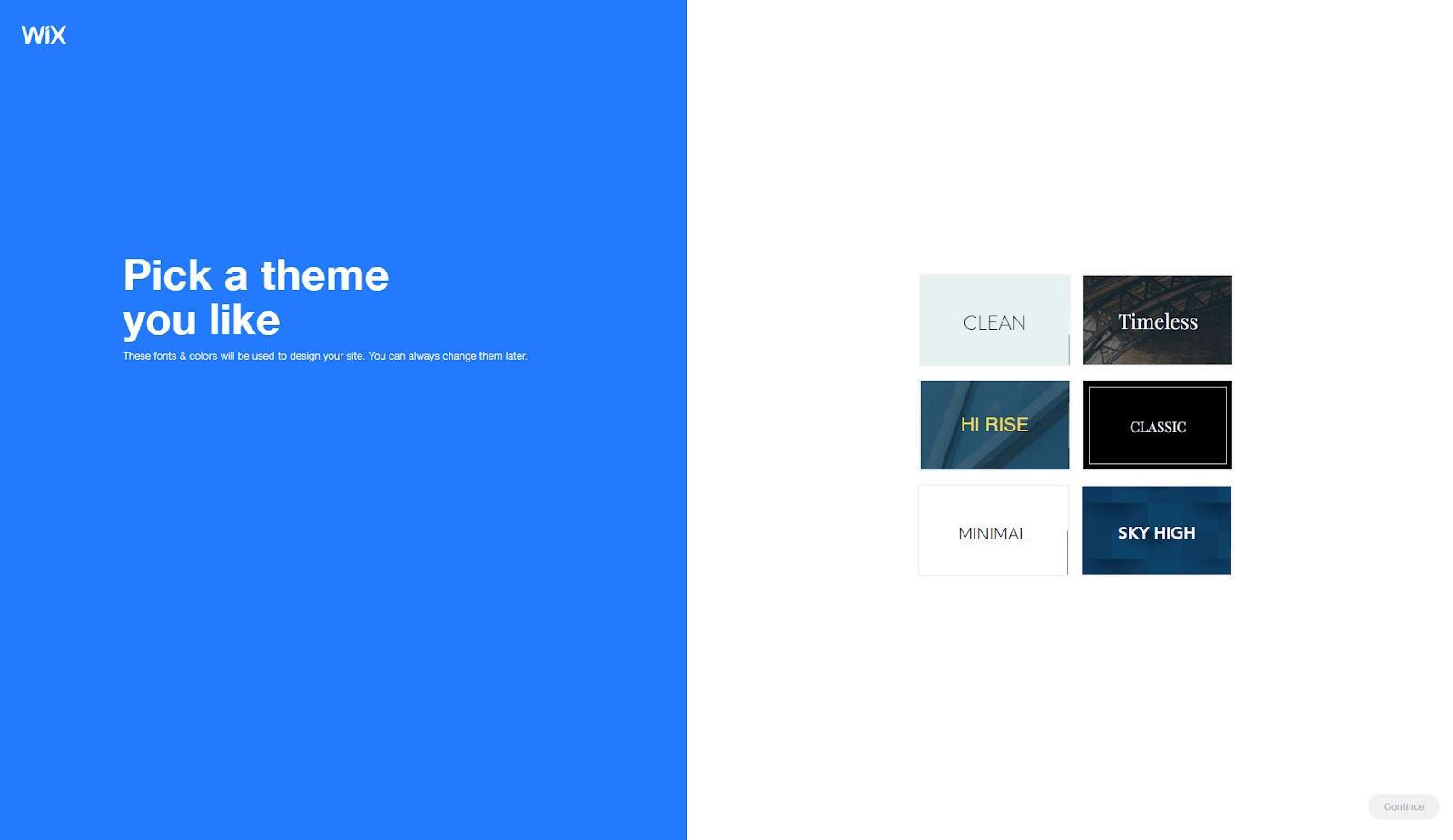 choose a theme