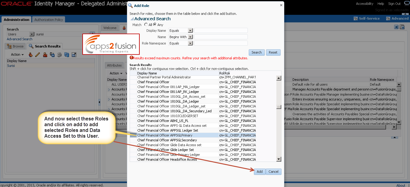 Data Role and Data Access Set in Oracle Fusion Applications
