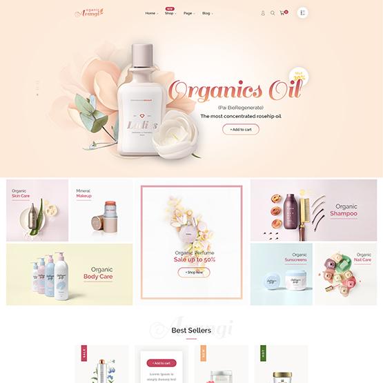 Wordpress ecommerce themes arangi