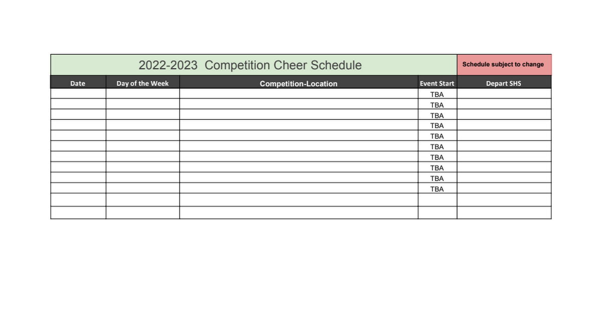 Cheerleading Sm 2021