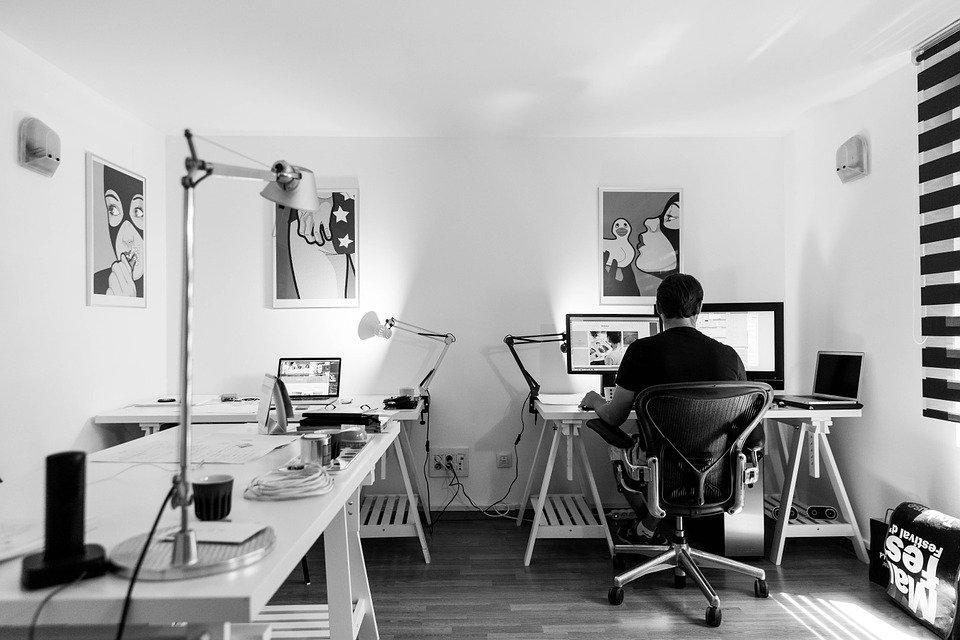 Escritório, Trabalho, Recepção, Computador