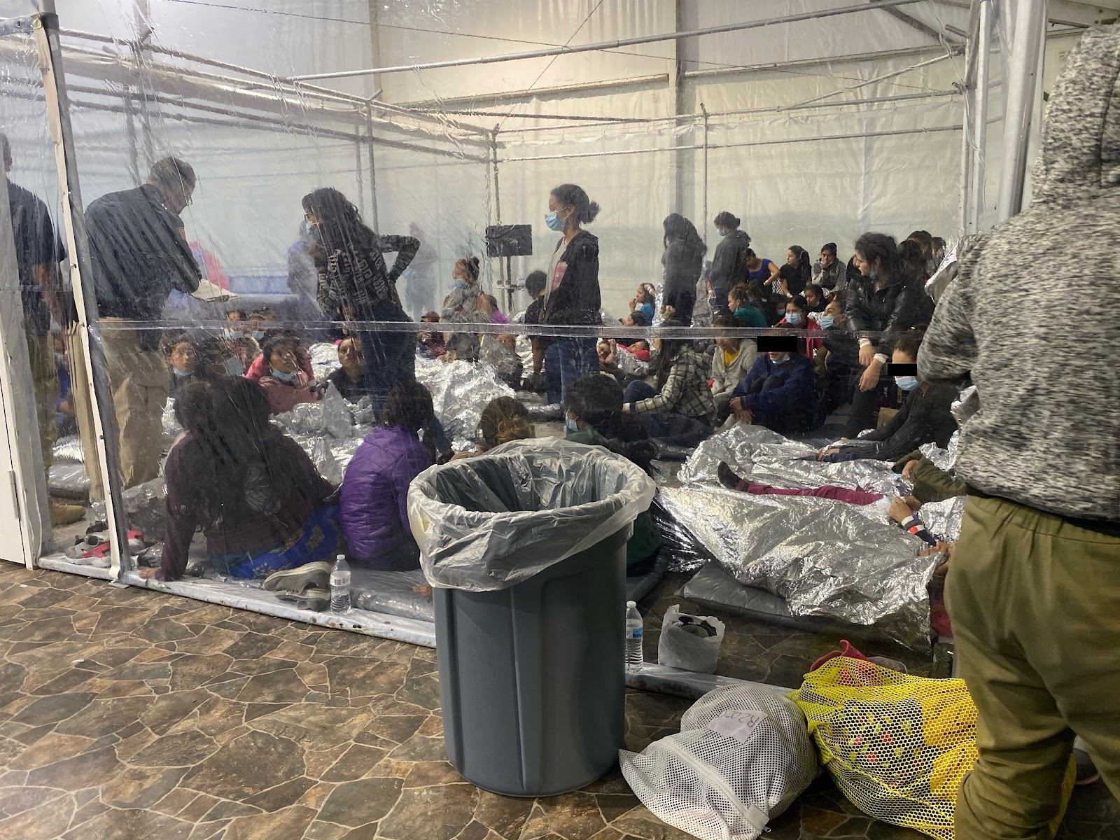 Images showing migrants in close quarters at the temporary Donna Immigration Facility in Texas. Positive COVID-19 cases, as well as sexual and physical assaults were reported by whistle blowers.
