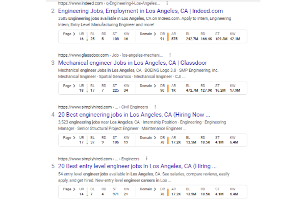 engineering job search for seo marketing
