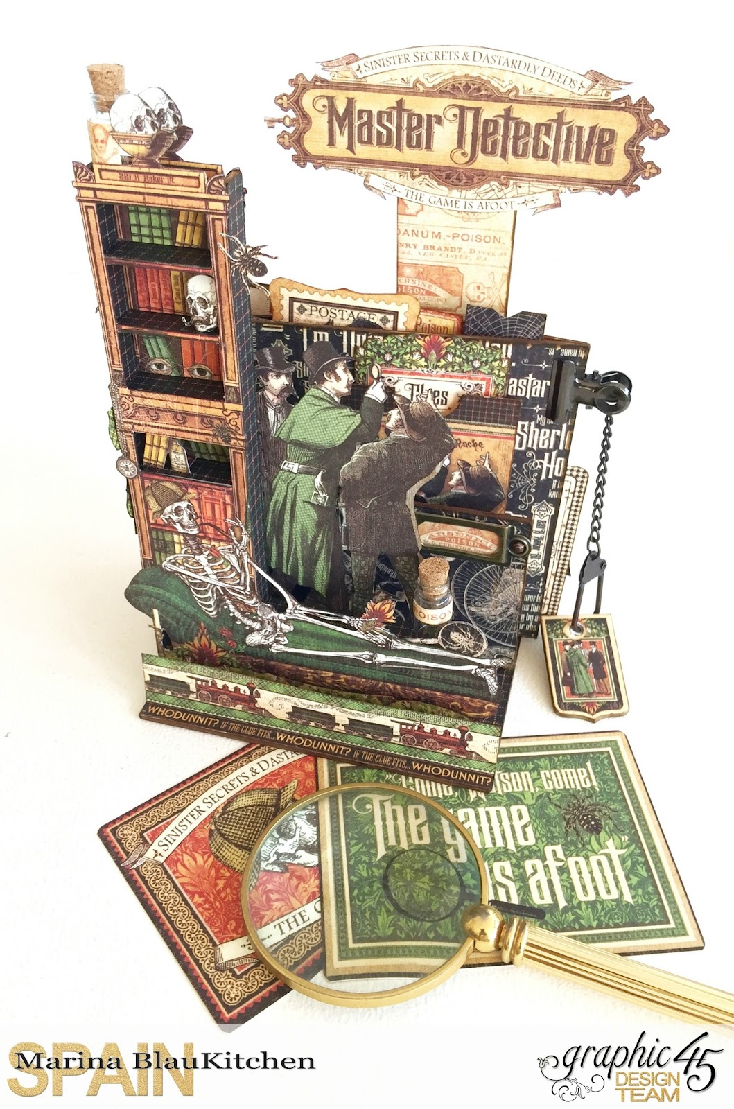 Stand and Mini Album Master Detective by Marina Blaukitchen Product by Graphic 45 photo 32.jpg