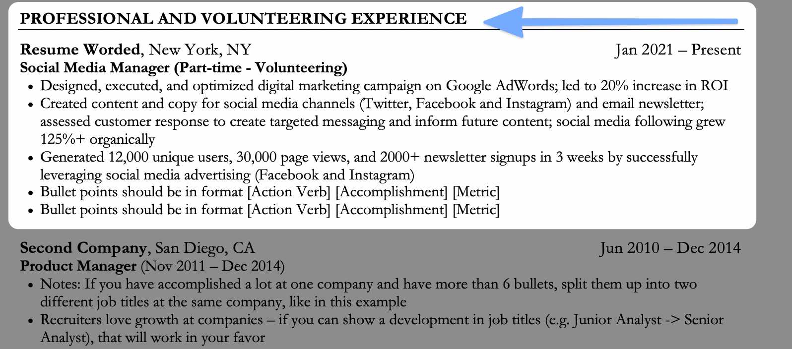 How to list volunteering experience during your time off, to hide a gap on your resume
