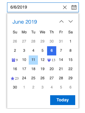 Syncfusion React DatePicker