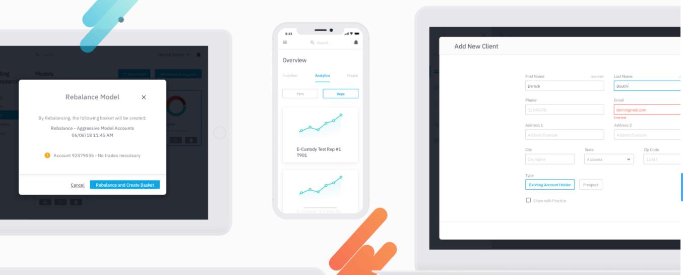 Screenshot of app design mockups