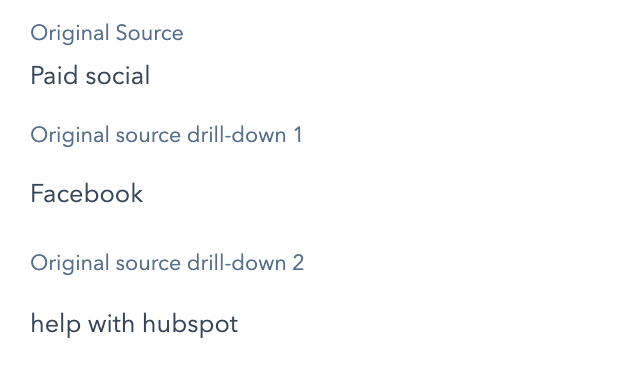 Paid social source & drill-downs