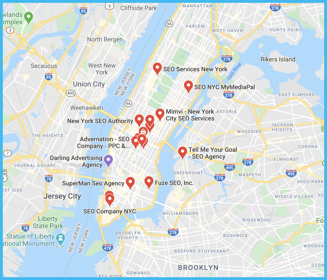 google maps results local seo
