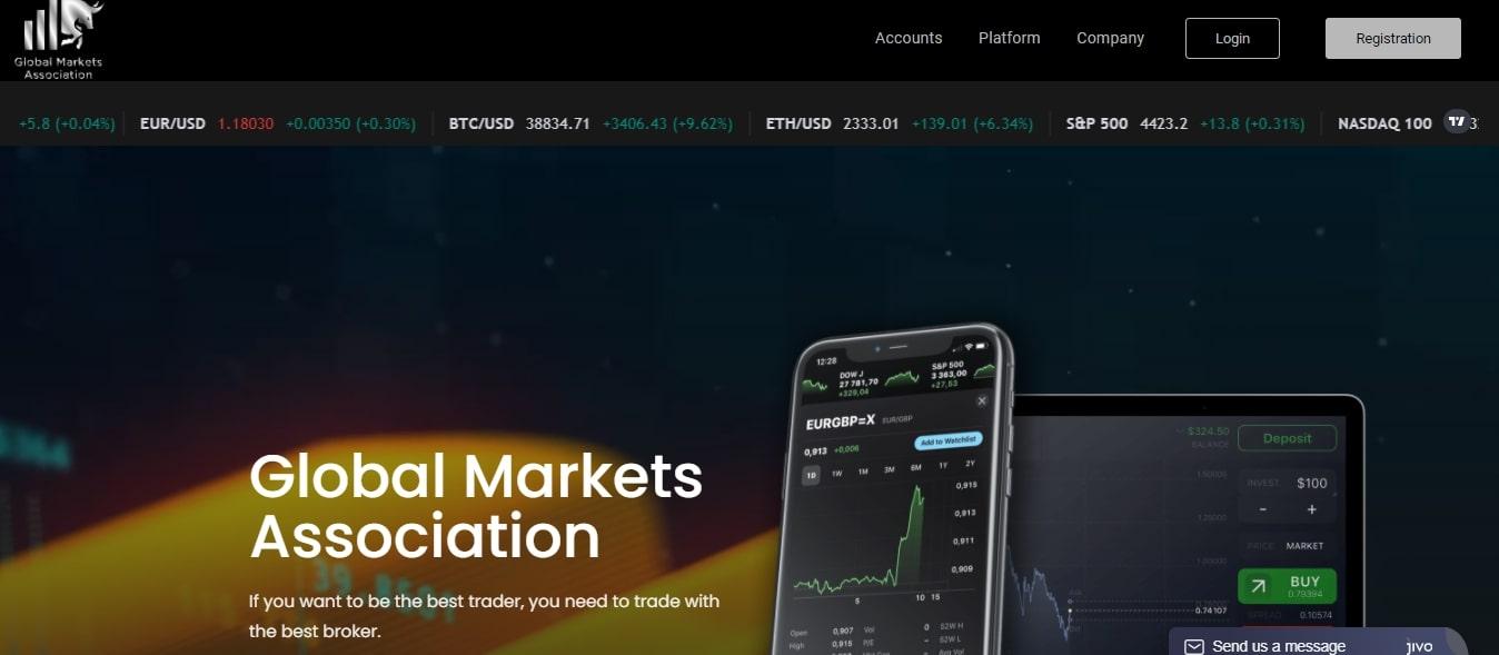 Global Markets Association: отзывы о торговых возможностях, оценка брокера
