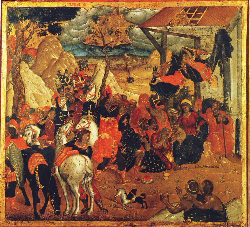 Η προσκύνηση των Μάγων, φορητή εικόνα, Συλλογή Ρ. Ανδρεάδη, Αθήνα, 16ος αιώνας, Εμμανουήλ Λαμπάρδος. .jpg