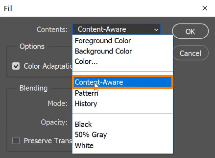 Select Content Aware