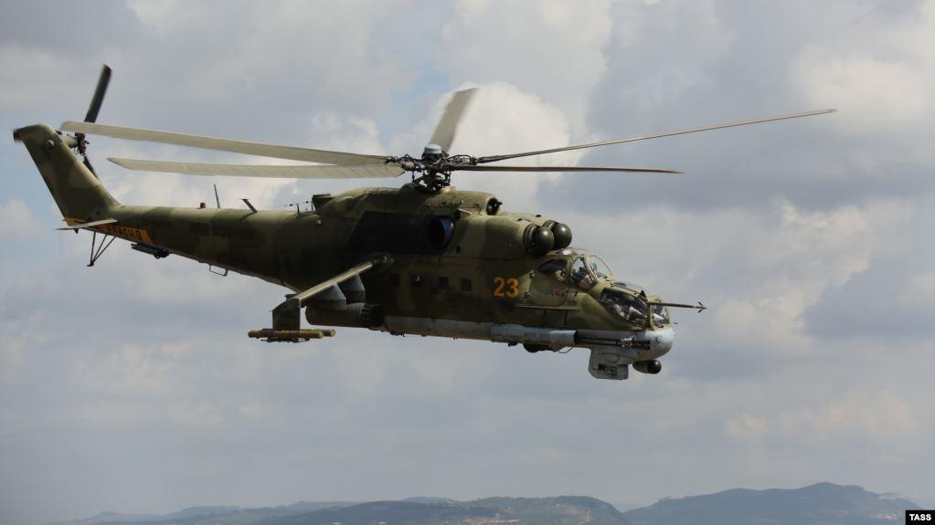 Повітряну кулю з американцями збив такий вертоліт, як на цьому архівному фото, – Мі-24