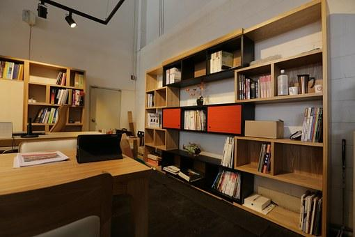 Office Shelf Desk Interior Design Living R