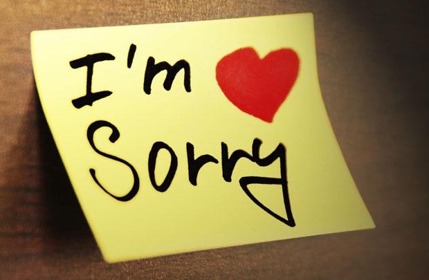 Hãy nói lời xin lỗi đến đối phương của bạn