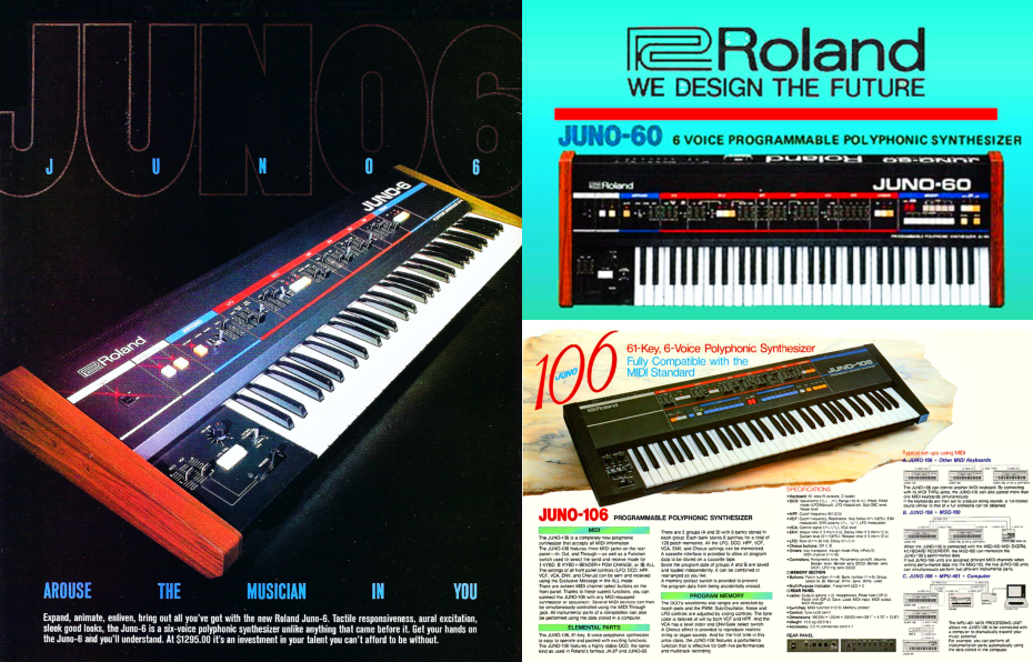 First Generation Roland Juno Advertisements