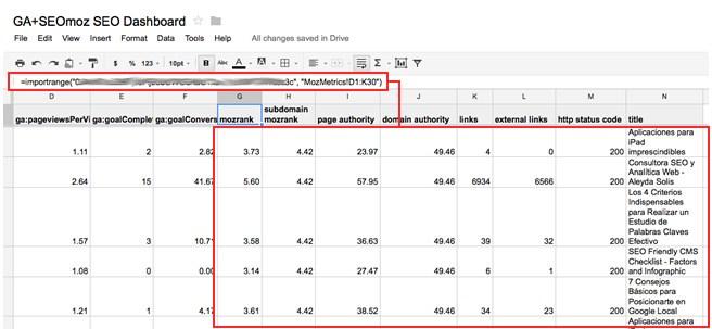 Google Analytics SEOmoz SEO Dashboard Nhập