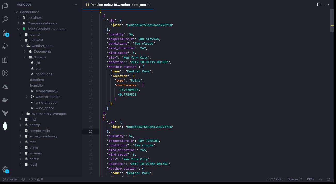 Image of MongoDB for VS Code