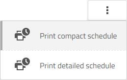 print schedule