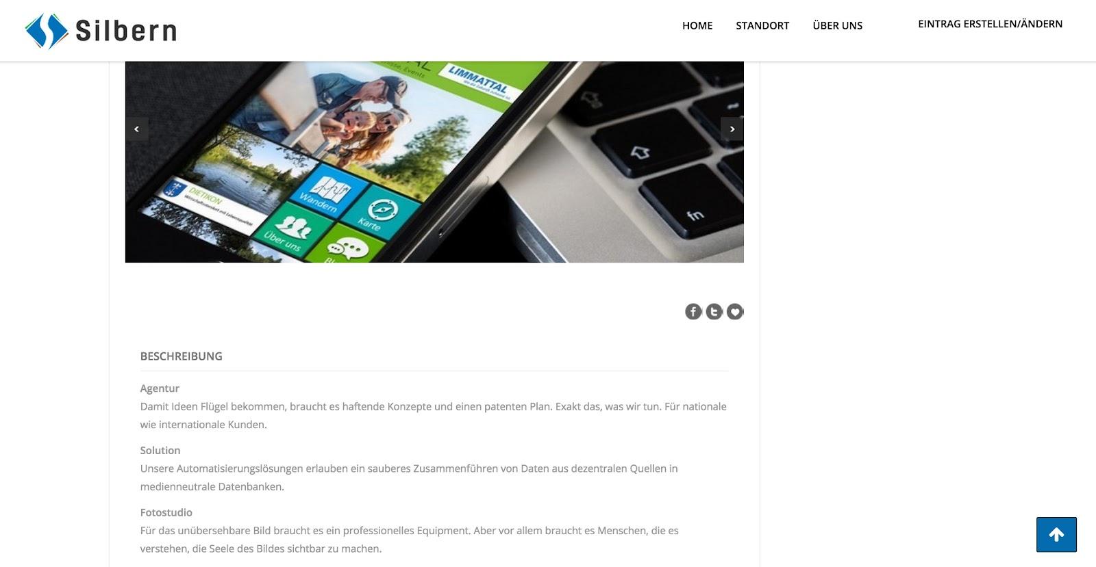 Bilder und Beschreibung zu Ihrem Unternehmen/Angebot