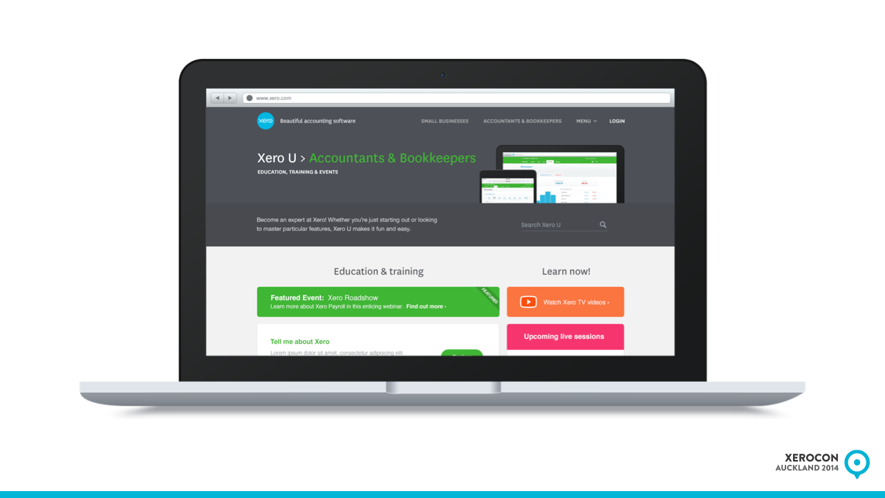 Xero U for accountants and bookkeepers