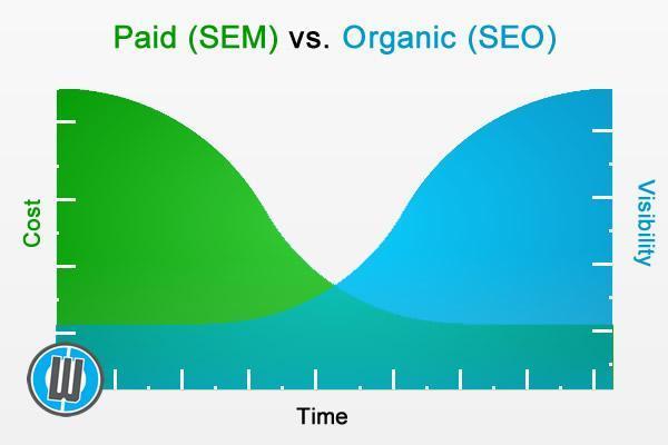 SEM vs SEO graph