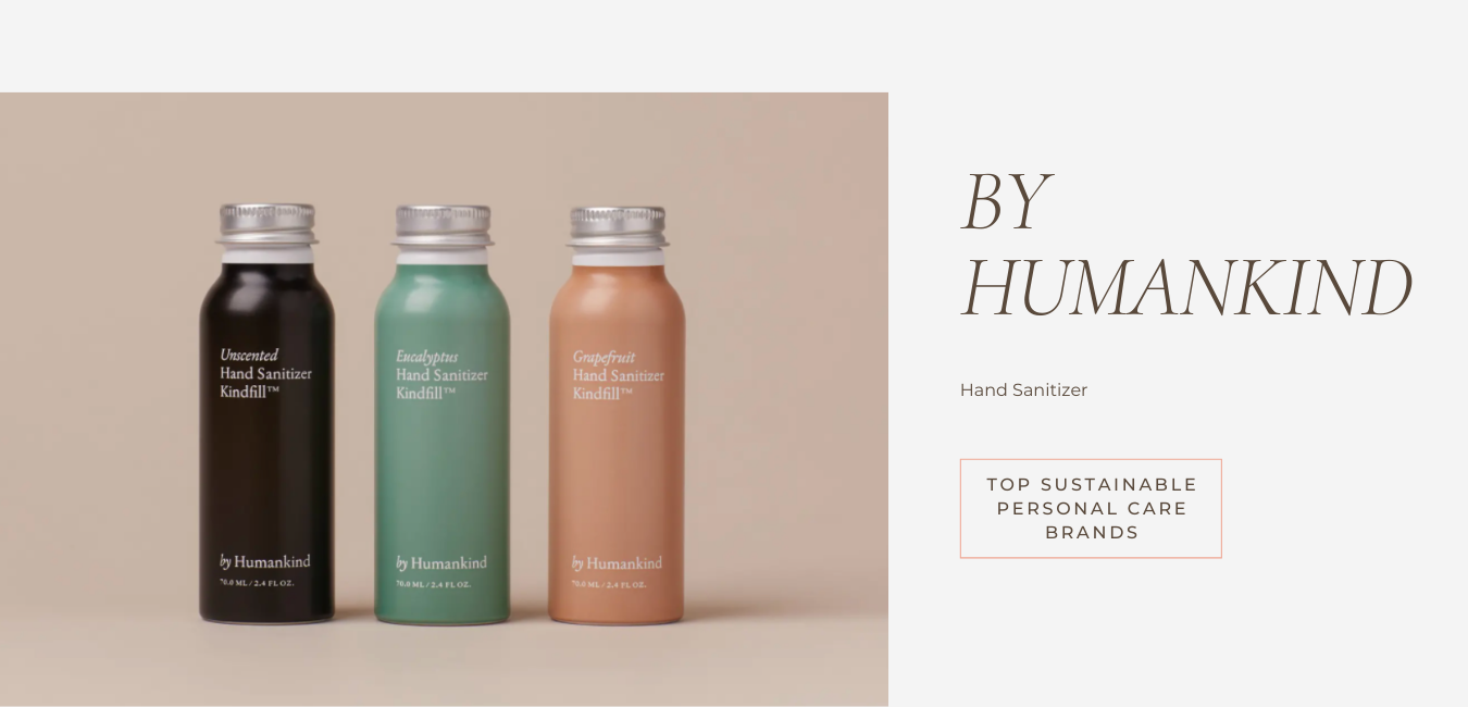embrace sustainable living with by humankind