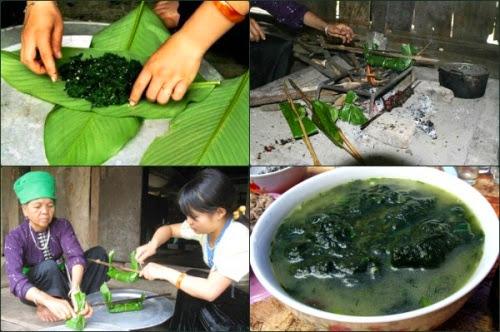 Lạ miệng với món rêu đá của người Thái