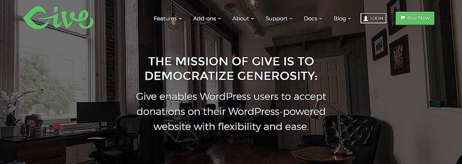 plugin de doação Give