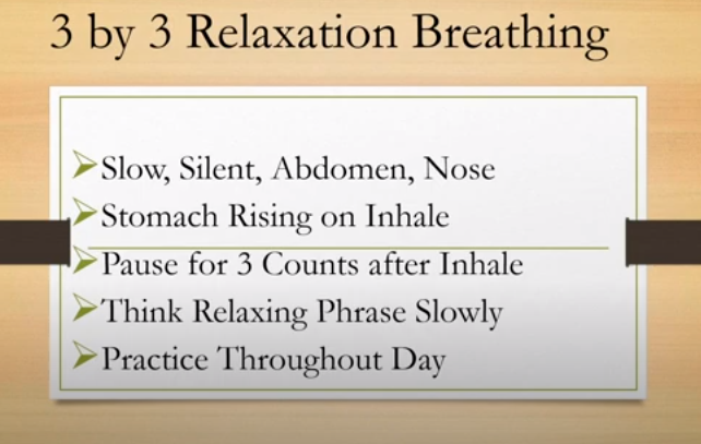 relaxation exercises for the help of emetophobia