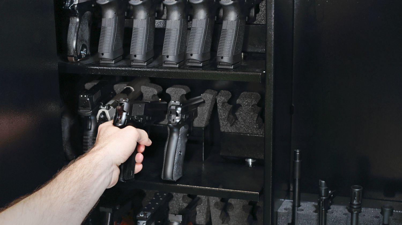 gun safe bench