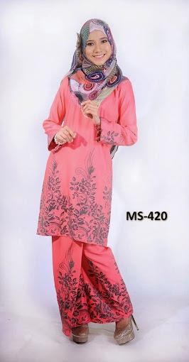 Baju Kurung Pahang Peach Baju Raya 2014 Terkini