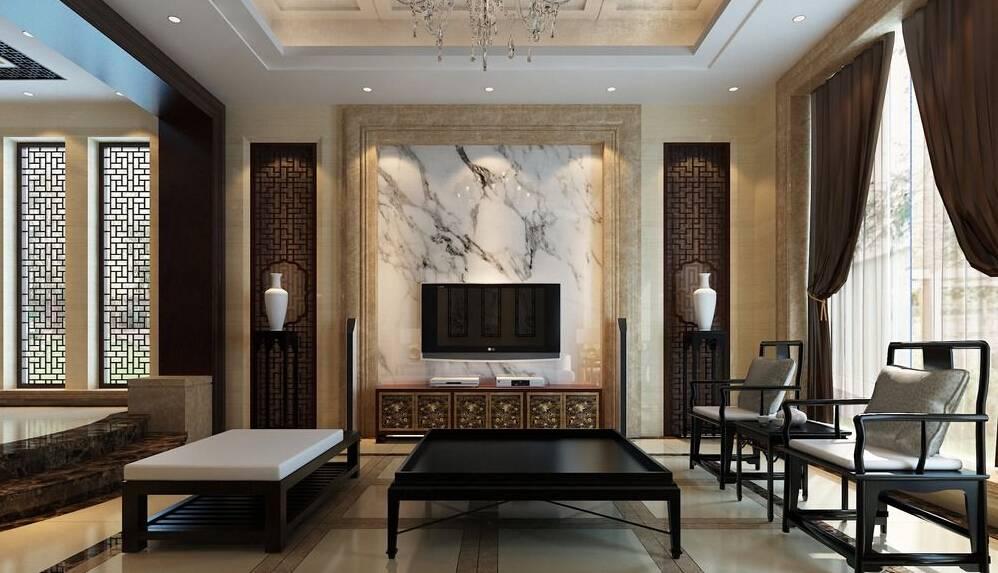 Phòng khách của nhà phố Á Đông hiện đại