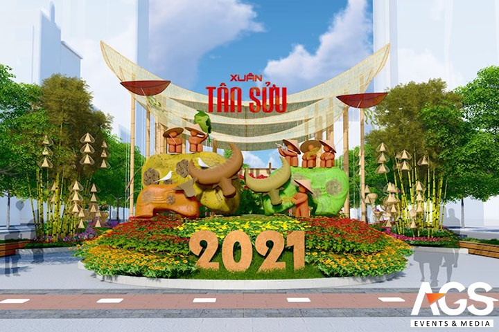 Trang trí lễ hội mùa xuân 2021 do AGS thực hiện