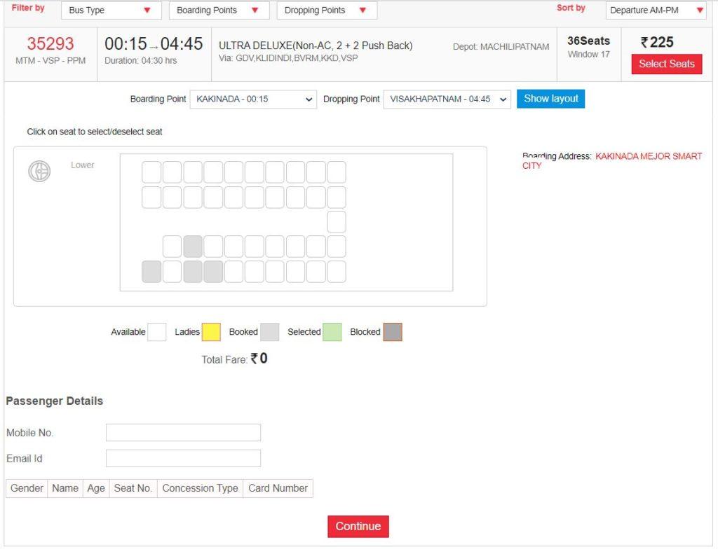 How to book apsrtc bus tickets online