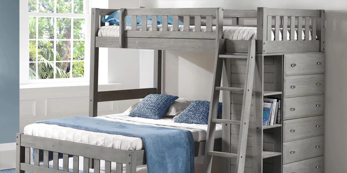 Giường tầng gỗ có nhiều kích thước