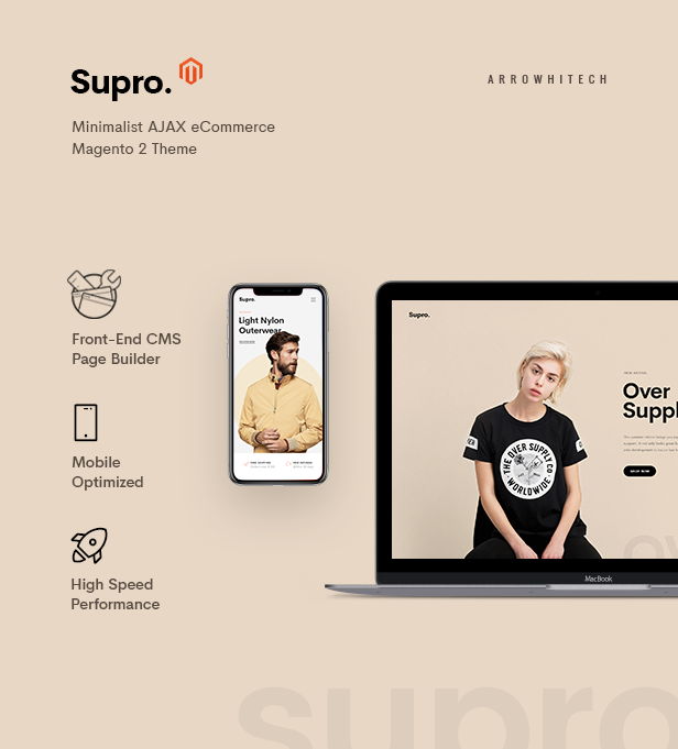 Magento clothing theme Supro