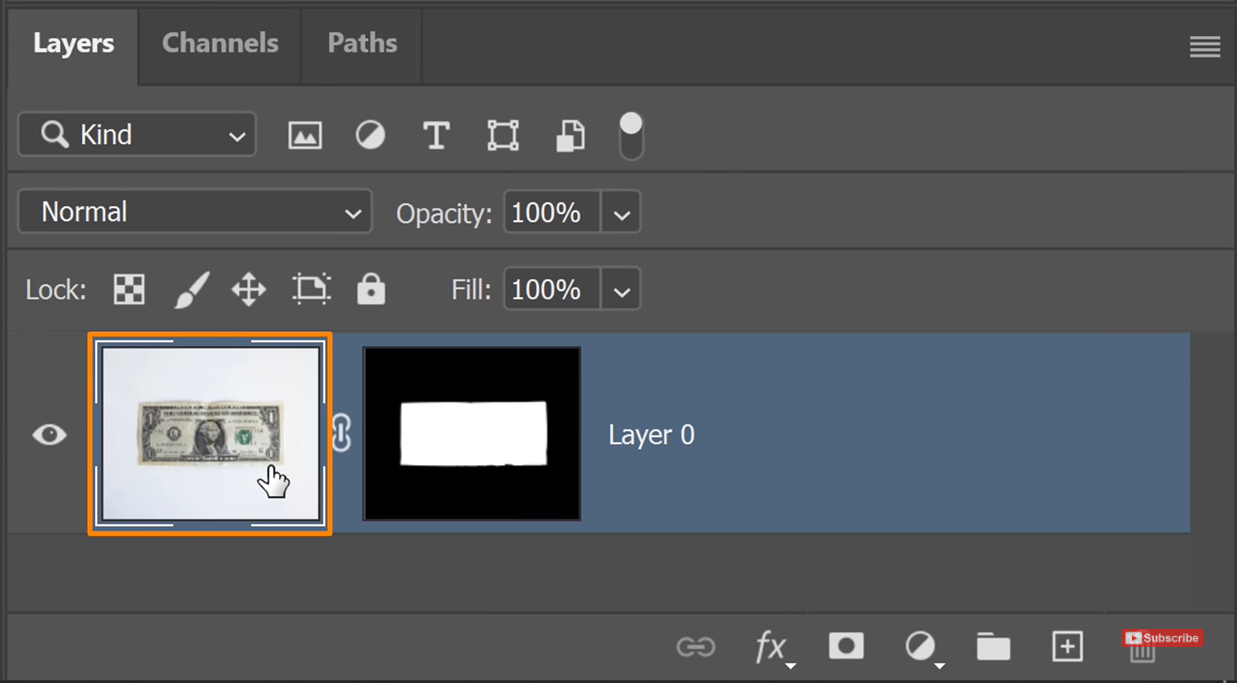 Select the Layer thumbnail