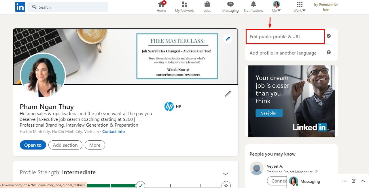 Edit your custom URL