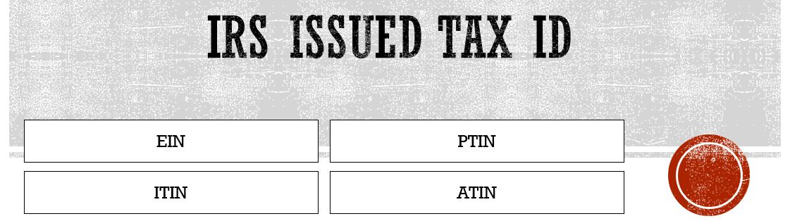 Tax ID IRS