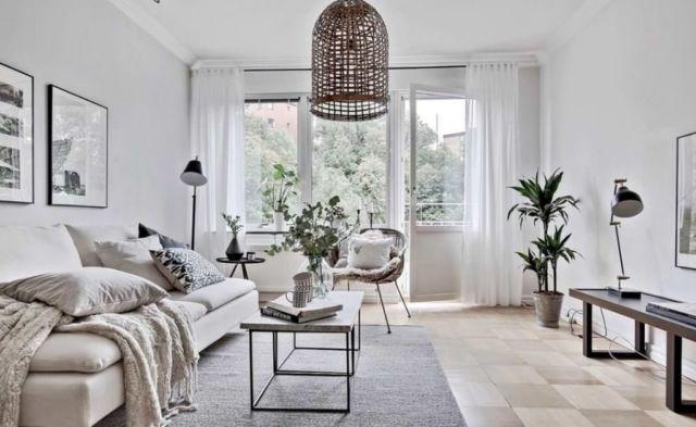 Phong cách tối giản ấm cúng cho phòng khách gia đình