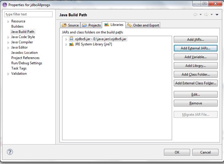 JavaMadeSoEasy com (JMSE): JDBC connection with Oracle 11g - ojdbc6