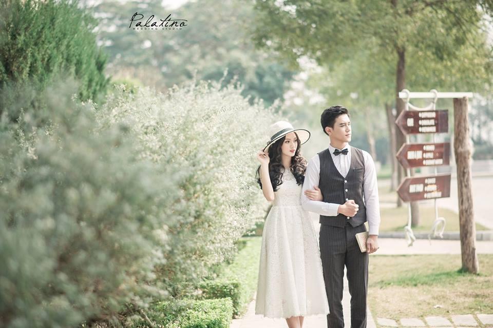 chụp ảnh cưới phim trường biệt thự hoa hồng