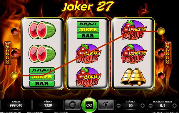 Joker 27 výhry