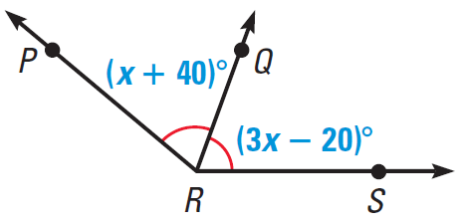 angle PRS is bisected by the line RQ